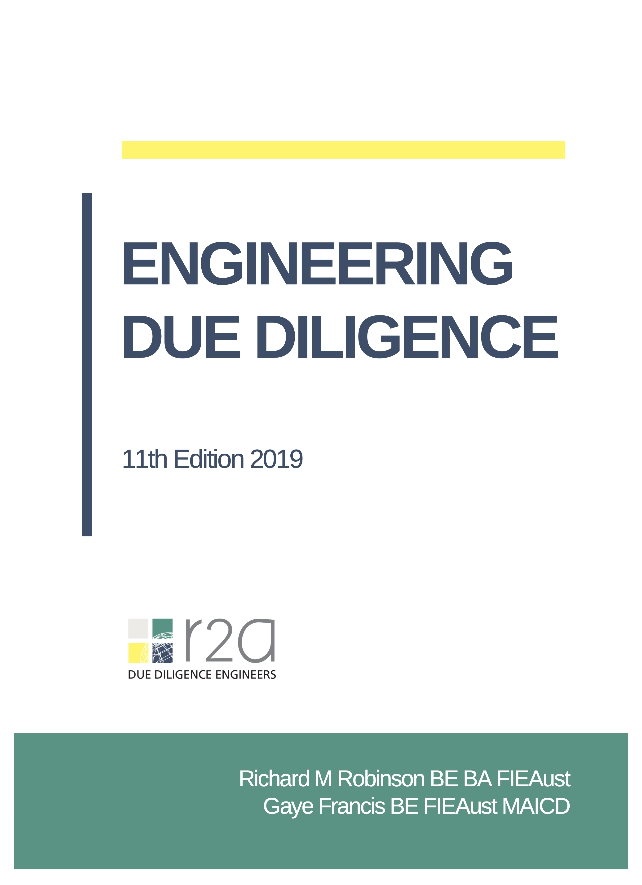 R2A Engineering Due Diligence Text 11Ed - 2019